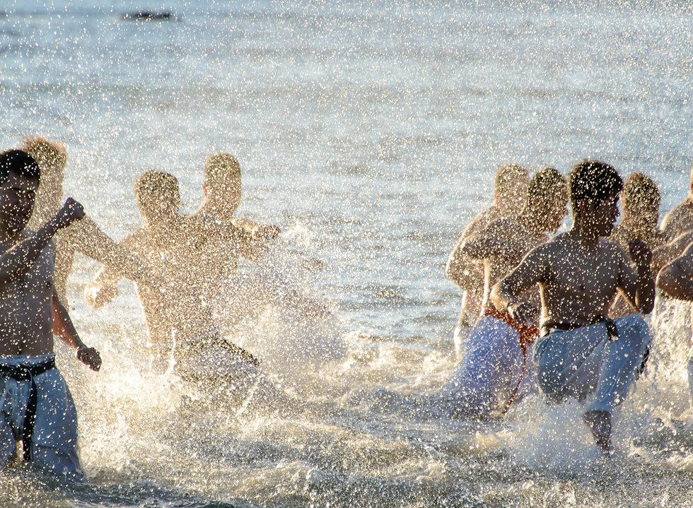 海辺の練習