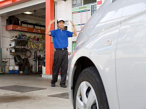 山長のガソリンスタンド