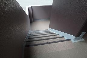 階段 シート貼り 施工完了