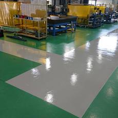 ⑫工場内床塗装