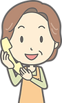 電話をする女性イラスト