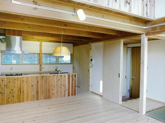 天然木材を使用した住宅