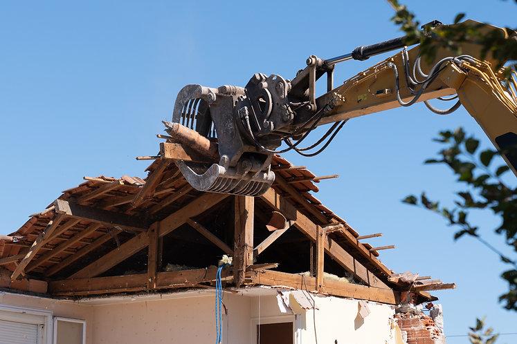 家の解体工事