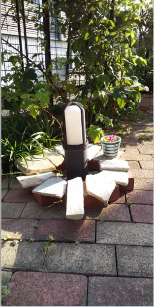 ≪防犯プラン≫庭園灯はデイライト・人感センサー