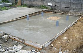コンクリートを打ち乾燥させます