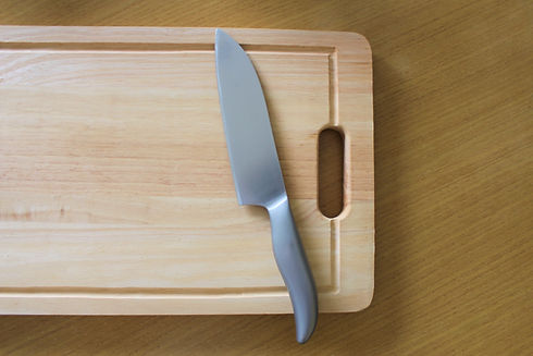 まな板とナイフ