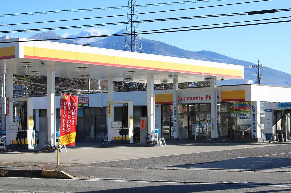 ガソリンスタンドの外観