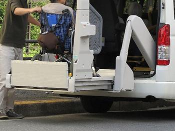 車への車椅子昇降
