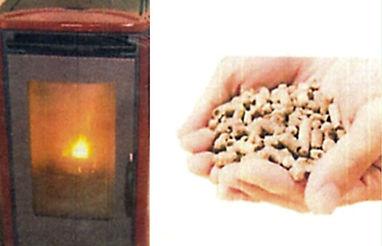 暖炉とペレット