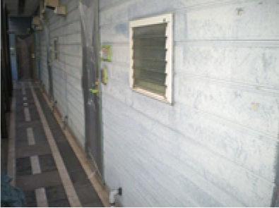 壁面施工前