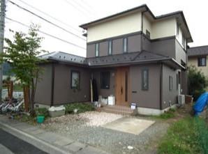 ナノグラスコート施工後の住宅