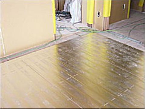 床暖房敷設工事