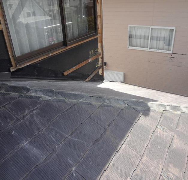 コロニアル屋根カバー工法 施工中
