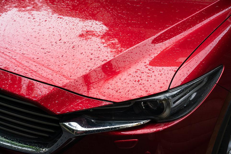 水にぬれた車