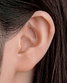 補聴器マイク型オーダーメイド着用イメージ