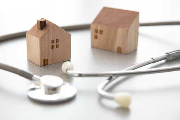 聴診器と積み木