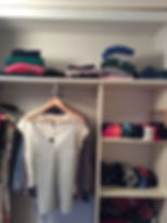 Decluttered and organised wardrobe