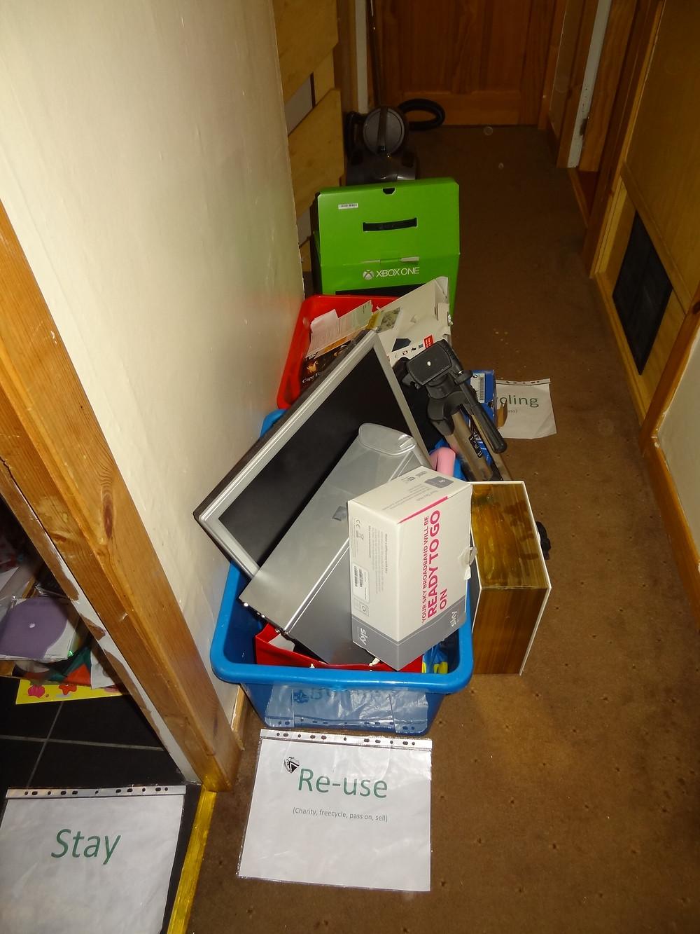Organising piles