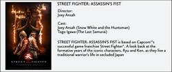 Street Fighter- Assassin's Fist