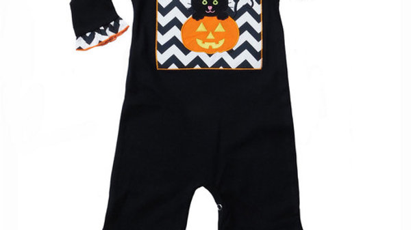 Description ONLY SIZE 6-12 MONTH LEFT!     Boutique Baby Girls Halloween Romper