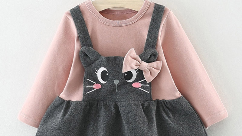 Baby Girls Dresses With Bag 2pcs Clothes  Birthday Party  Winter Clothes