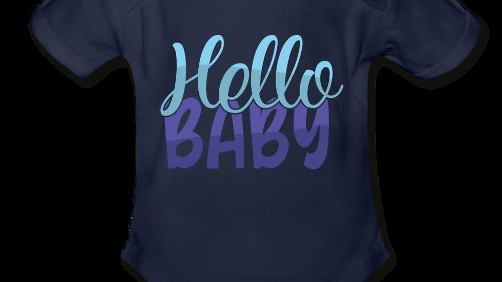 Hello Baby Short Sleeve Baby Bodysuit