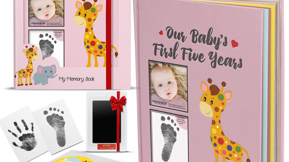 Novarena First 5 Years Baby Memory Book  Scrapbook 48 Pack Monthly Milestones