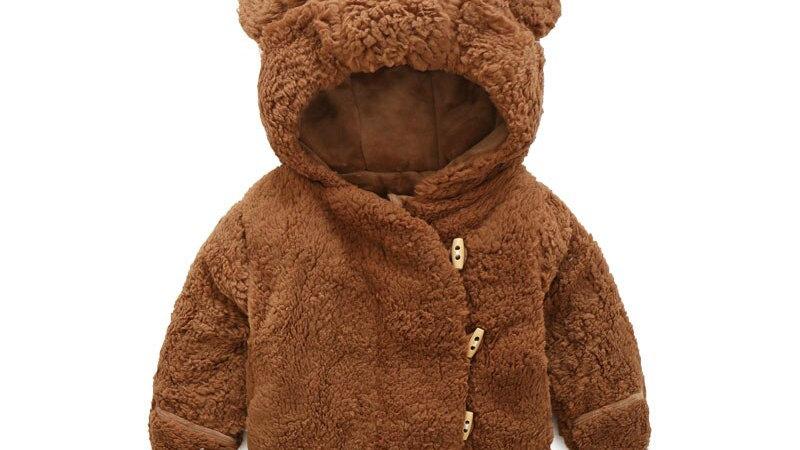 Baby Boy Winter Overalls Cute VelveOuterwear