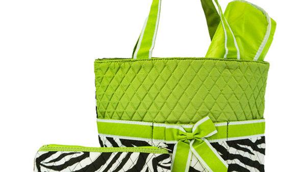 Zebra Diaper Bag Set of 3