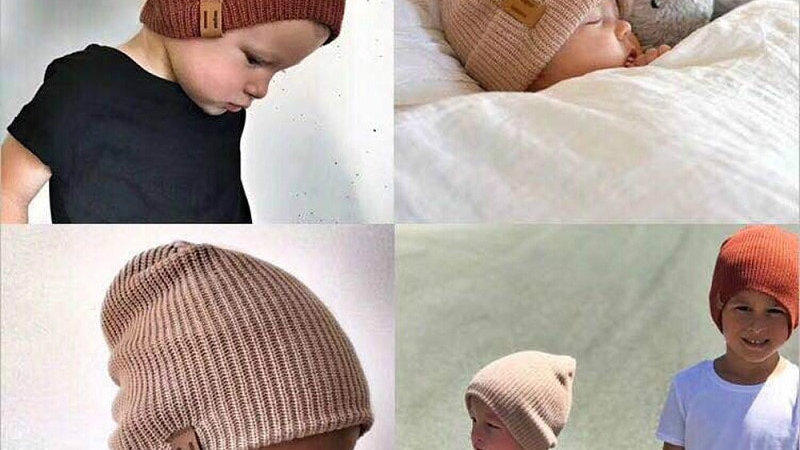 Baby Hat Winter Wool Knitted