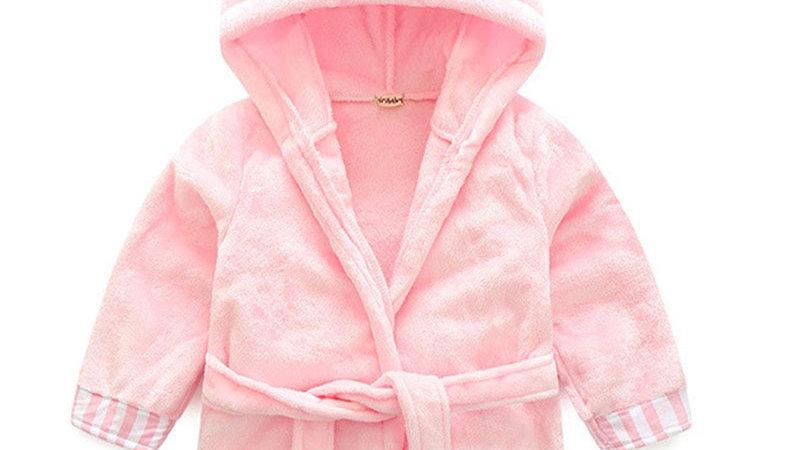 Kids Pajamas Winter Rabbits Keep Warm Flannel Robe