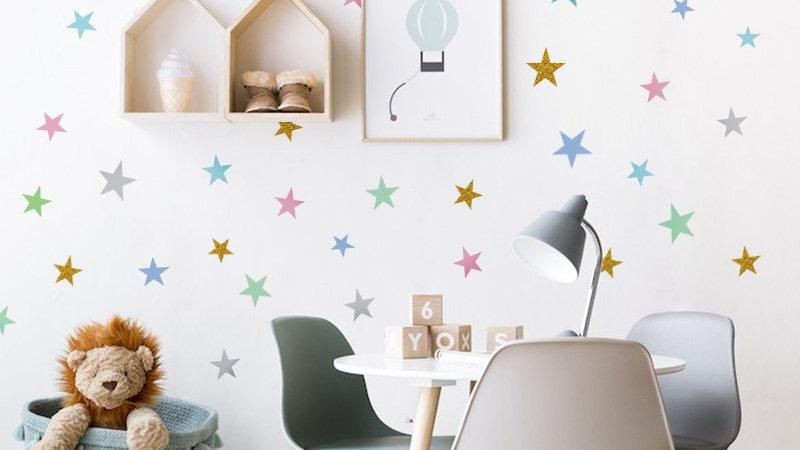 Custom Stars Wall Sticker for Kids Room Baby Nursery Bedroom Wall Decals Art