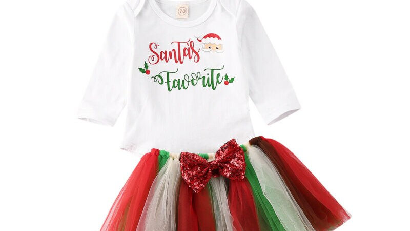 Christmas Newborn Infant Baby Girl Clothes Letter Romper Top Xmas Clothing