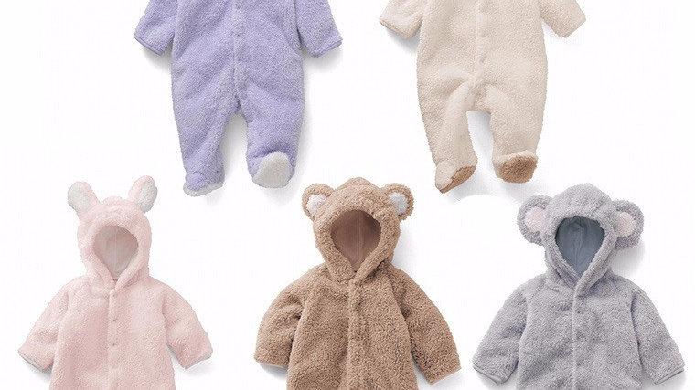 Newborn Baby  Romper Winter Costume