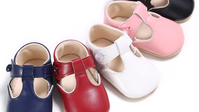 Baby Shoes Sweet Casual Kids Leather Solid Ballet Mary Jane Shoes 0-1t