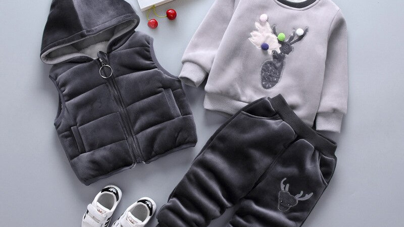 Baby Christmas Outfits Winter Deer Cashmere Vest Tops
