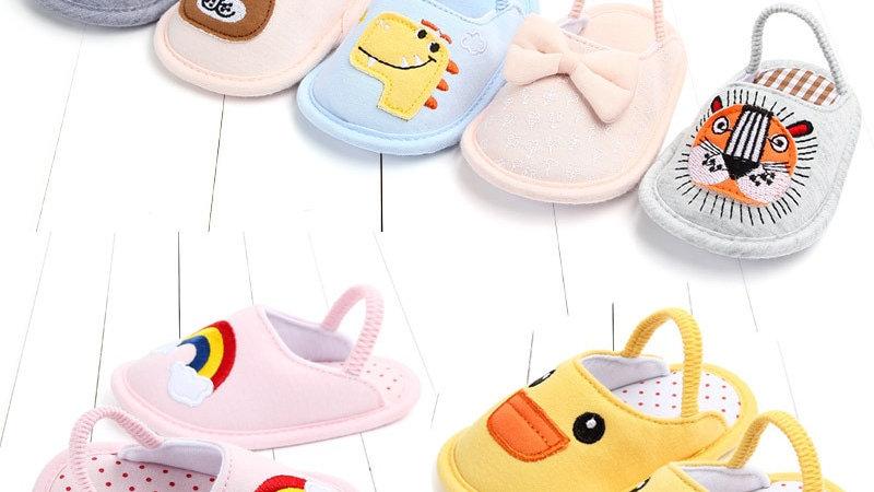 Children's Cotton Toddler Slippers  Shoes Soft Unisex Carton Warm  Cotton