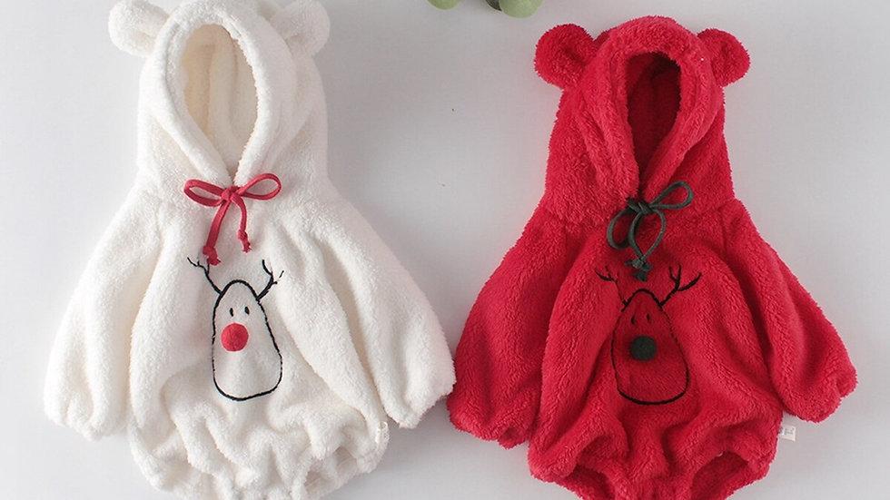 Infant Christmas Romper, Baby Long Sleeve Hooded Snowman