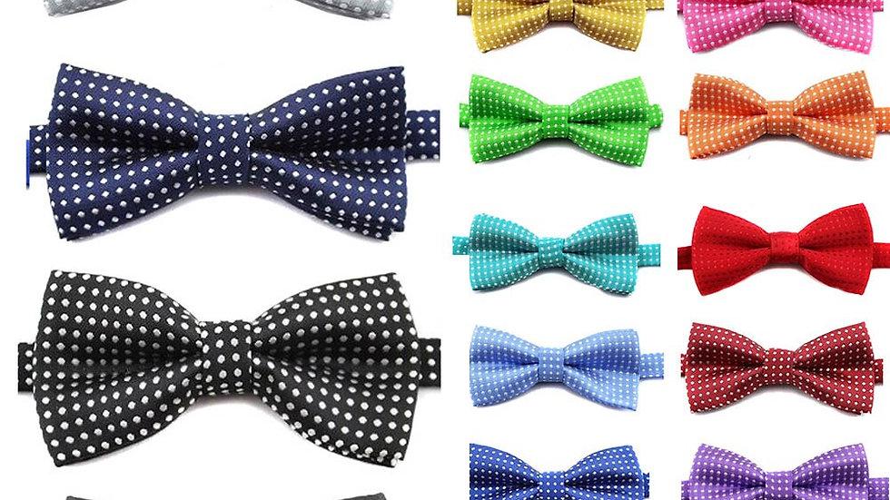 Boy's Bow Tie High Quality Polka Dot Black Blue Red