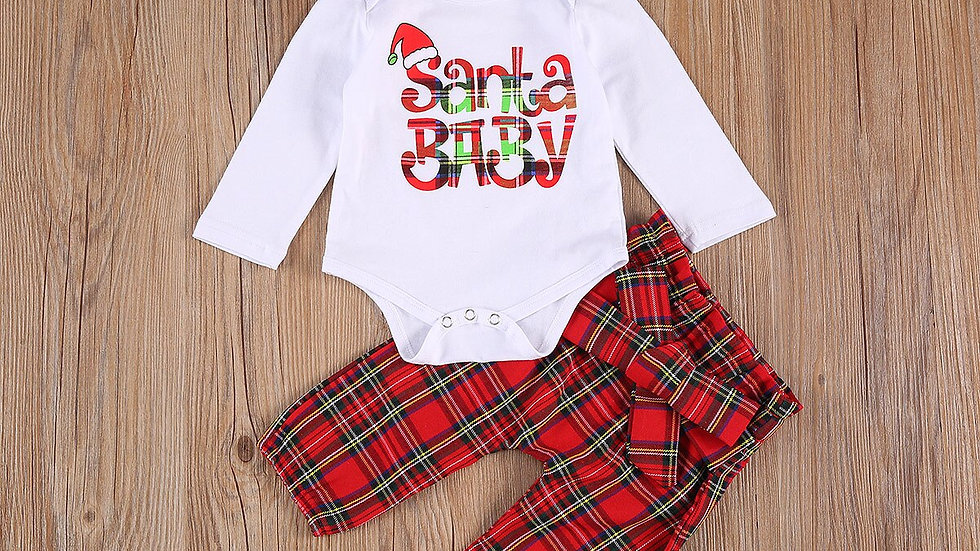 0-24months Newborn Christmas Set Santa Claus Outfits