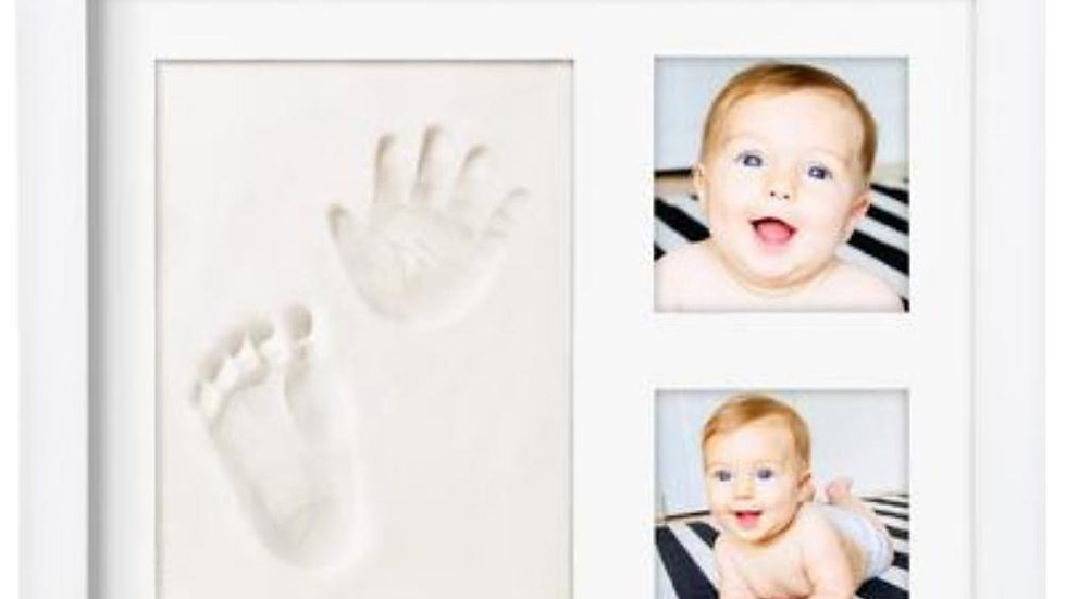 Premium Baby Handprint Kit by Laura Baby!  Baby Picture Frame  & Non Toxic CLAY!