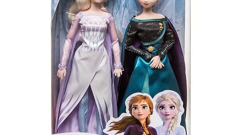 2pcs Disney Toys Frozen 2 Elsa Anna the Snow Queen Princess Christmas Gifts Toys