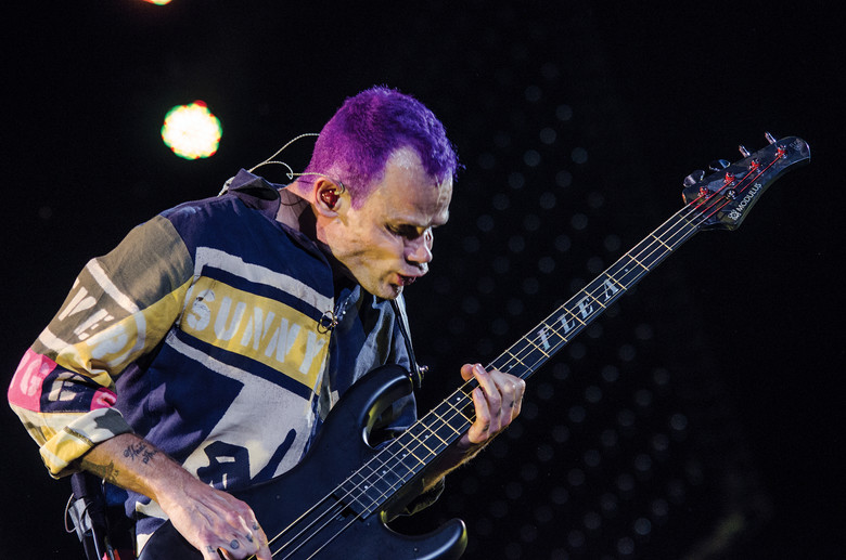 Flea of the Red Hot Chili Peppers performs October 12, 2012 at the Austin City Limits Music Festival. The group headlined the final night of the festival.  AUSTIN HUMPHREYS/UNIVERSITY STAR