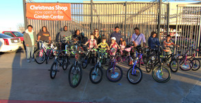Helped raise $10,000 to buy bikes for kids in need during Christmas