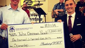 $1,000 gift for the Tulsa Christmas Parade