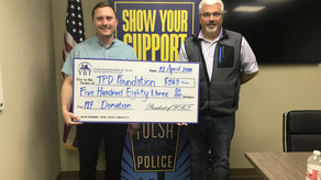 $583 For TPD Foundation