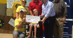 Over $17,000 raised with net proceeds going to Keith Boyd, a young boy with cerebral palsy