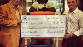 $1,325 raised for Emeka's handicap van