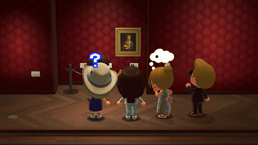 Players take in the beauty of Lady with an Ermine by Da Vinci