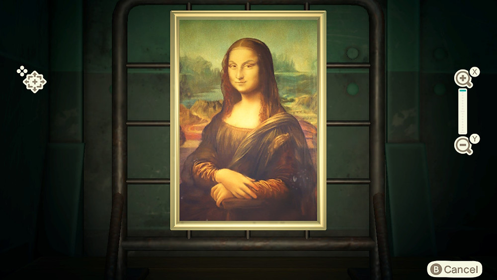 A close image of the Mona Lisa painting, except she has eyebrows that are not present in the real artwork.